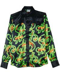 SSS World Corp Fire Dollar Western Shirt - Vert