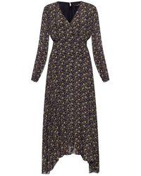 Paul Smith Long-sleeved Patterned Dress - Zwart