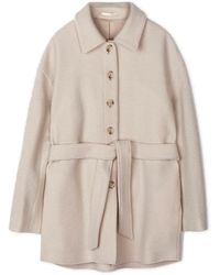 Filippa K Wool Coat Lima - Bianco