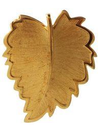 Dolce & Gabbana Leaf Brooch - Metallic