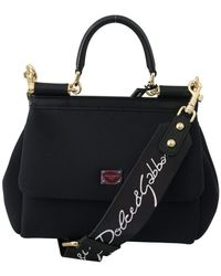 Dolce & Gabbana Miss Sicily Shoulder Hand Bag - Zwart
