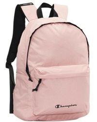 Champion Mochila small printed logo backpack - Rosa