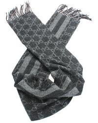 Gucci Tweedehands Sjaal - Grijs
