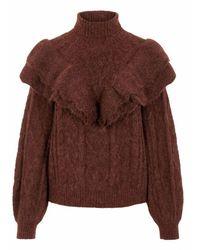 Y.A.S Yaschoko Knit Pullover - Bruin
