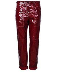 N°21 Vinyl Pants - Rood