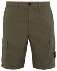 Stone Island Cargo Bermuda Shorts L0803 - Groen