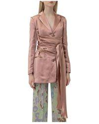 L'Autre Chose Blazer With Sash - Roze