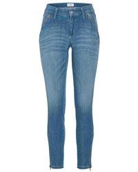 Cambio Jeans Parla Zip - Blauw