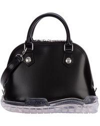 Gcds Leather Handbag Shopping Bag Purse - Zwart