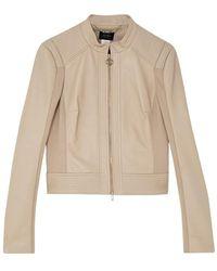 Liu Jo Leather Jacket - Naturel