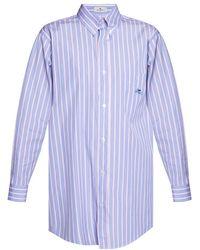 Etro Long shirt with pocket - Bleu