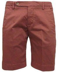 Entre Amis Chino Bermuda Shorts - Rood