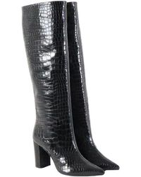 Aldo Castagna Python print boots Negro