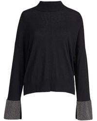 Essentiel Antwerp Jersey wrass blouse - Negro