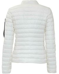 Peuterey Down Jacket with Logo Blanco