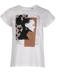 Rinascimento T-shirt Cfc0099748003 - Naturel