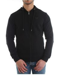 Emporio Armani 8n1m15 1j07z Zip Sweater - Zwart