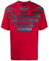 Emporio Armani T-shirts And Polos T-shirt - Rood