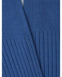 Santa Eulalia Long Ribbed Socks Azul