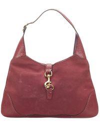 Gucci Jackie Suede Shoulder Bag - Rosso