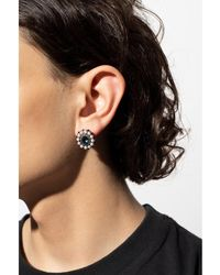 DSquared² Clip-on earring with crystals Gris