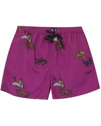 Soulland William Shorts Zodiac - Paars