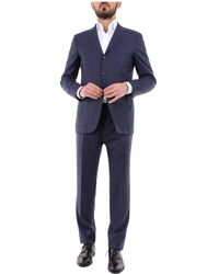 Kiton 12993189evo Single-breasted Suit - Blauw