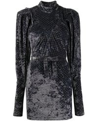 ROTATE BIRGER CHRISTENSEN Ida Velvet Dress Gris