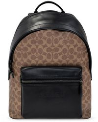 COACH Charter Backpack With Logo - Bruin