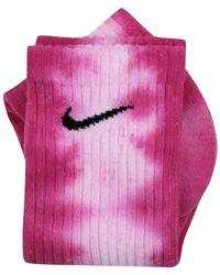 Nike Calzini tie dye custom - Rose