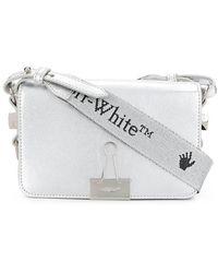 Off-White c/o Virgil Abloh Laminate Mini Flap Bag - Wit