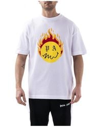 Palm Angels Smiley T-shirt - Wit