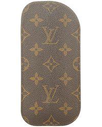 Louis Vuitton Tweedehands Monogram Etui A Lunettes Brillenkoker Canvas - Bruin