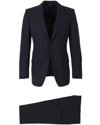 Tom Ford Wool Slim Suit - Blauw
