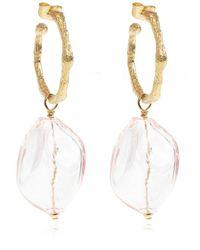 Forte Forte Murano Glass Earrings - Geel