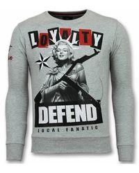 Local Fanatic Marilyn Trui Monroe Heren Sweater Truien Mannen - Grijs