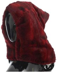 Dolce & Gabbana - Hamster fourrure Crochet Hat écharpe capot - Lyst