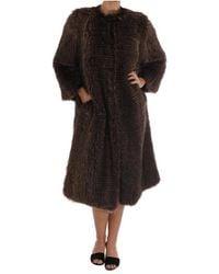 Dolce & Gabbana Raccoon Fur Jas Jacket - Bruin