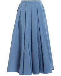 Paolo Fiorillo Capri Taffeta Skirt - Blu
