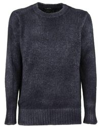 Avant Toi Washed Effect Sweater - Blauw