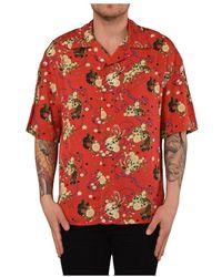 ih nom uh nit RED Garden Print Shirt - Rouge