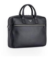 Emporio Armani Briefcase With Logo Negro