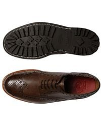 Grenson Archie Brogue Shoes - Bruin