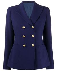 Tagliatore Double-breasted Jacket With 6 Buttons - Blauw