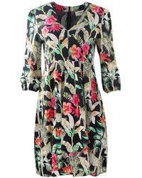 Pyrus Athene Leopard Print Dress - Nero