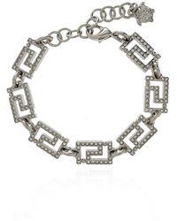 Versace Bracelet With Greek Pattern - Grijs