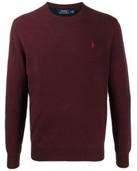 Ralph Lauren Knitwear O-neck - Rood