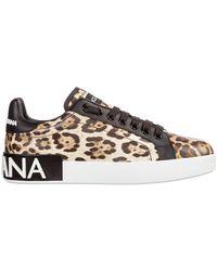 Dolce & Gabbana - Women's Schoenen Leather Trainers Sneakers Portofino - Lyst