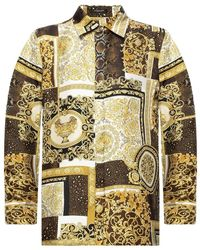 Versace Zijden Hemd - Naturel