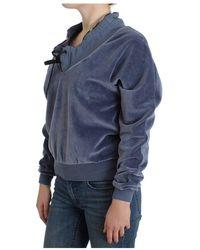 Roberto Cavalli Velvet sweater - Bleu